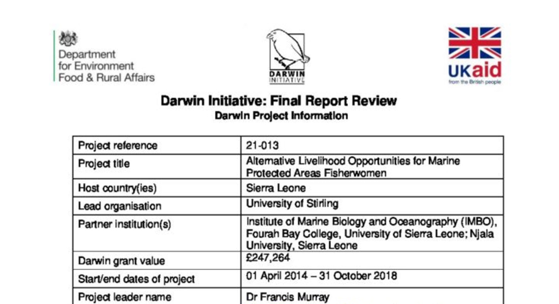 Darwin Initiative: Final Report Review